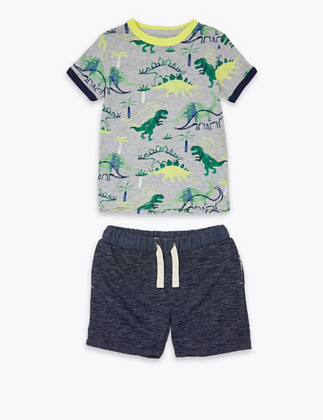 2 Piece Cotton Rich Dinosaur Outfit (2-7 Years)