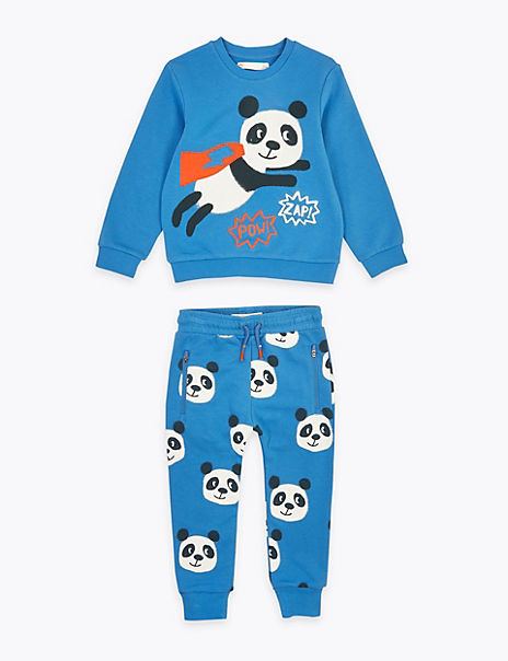 2 Piece Cotton Rich Panda Outfit (2-7 Years)