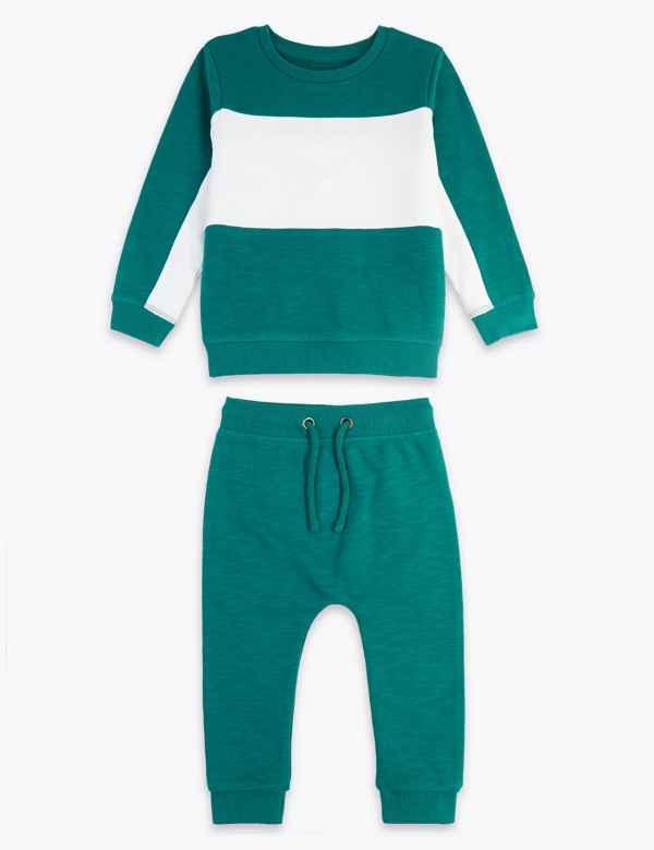 0d0e62fa6 Cotton Colour Block Outfit (3 Months - 7 Years)