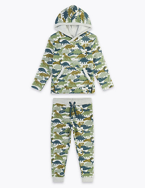Dinosaur Print Top & Bottom Outfit (3 Months - 7 Years)