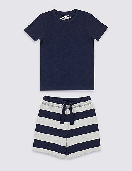 2 Piece T-Shirt & Shorts Outfit (3 Months - 7 Years)