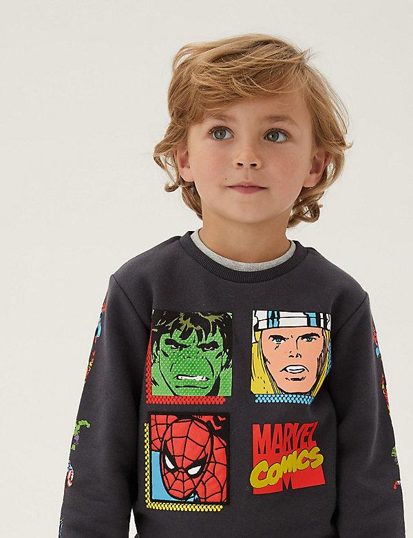 Marvel Superheroes™ Cotton Sweatshirt (2-7 Yrs)