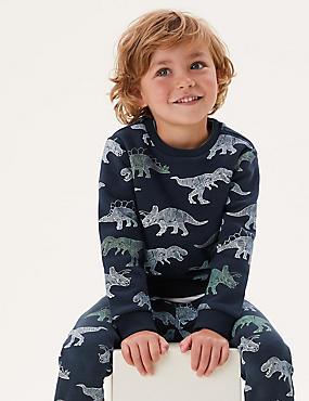 Sweat en coton à motif dinosaure (du 2 au 7ans)