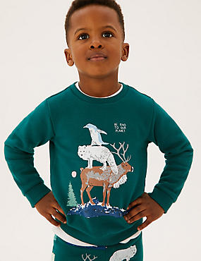 Cotton Animal Stack Sweatshirt (2-7 Yrs)