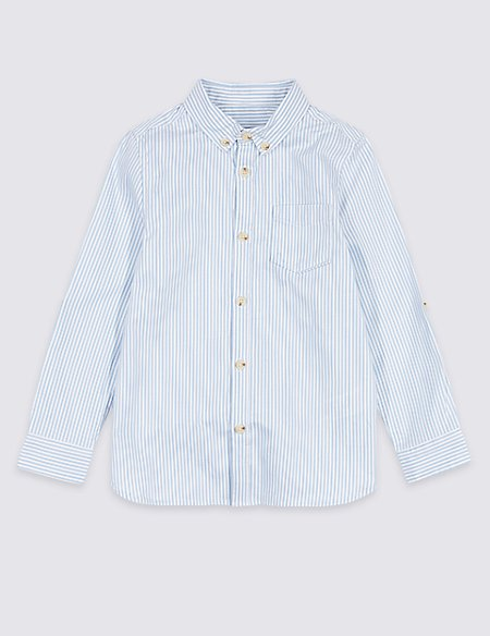 Pure Cotton Striped Oxford Shirt (3 Months - 7 Years)