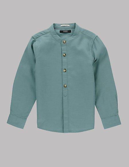 Pure Cotton Waffle Shirt (1-7 Years)