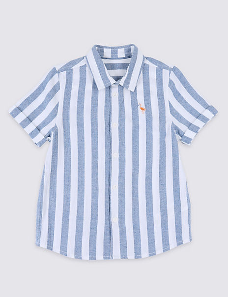 Pure Cotton Striped Shirt (3 Months - 7 Years)