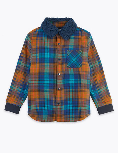 Pure Cotton Checked Borg Shirt (3 Months - 7 Years)