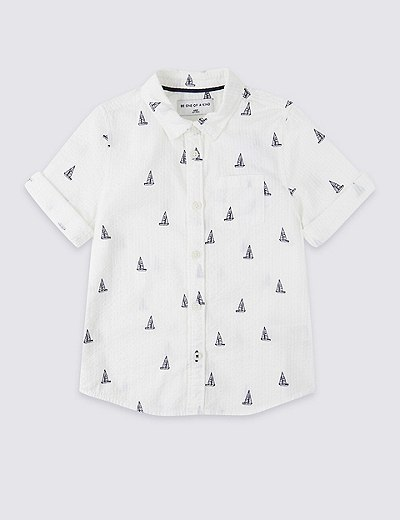 bf574461b1e95 Pure Cotton All Over Print Shirt (3 Months - 7 Years)