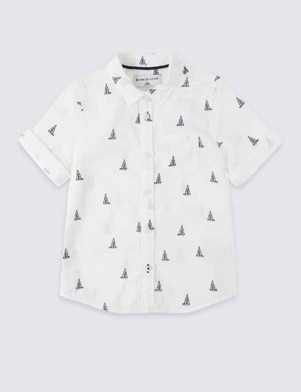 333c72e0b980 Pure Cotton All Over Print Shirt (3 Months - 7 Years)