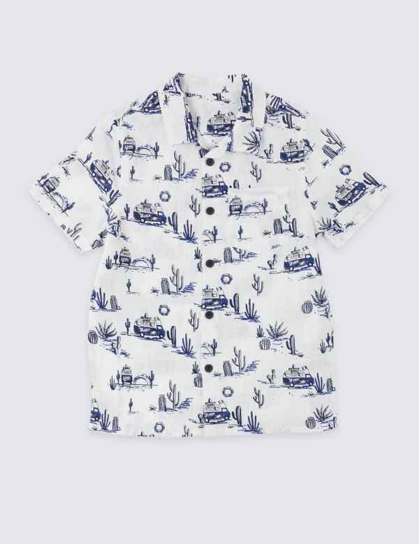 b6bce302 Van Print Shirt (3 Months - 7 Years)