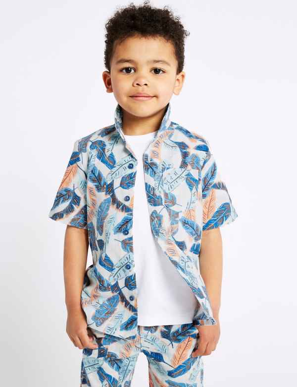85ef1595672 Pure Cotton Printed Shirt (3 Months - 7 Years)