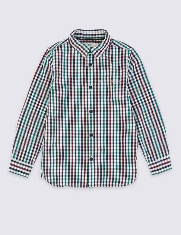 5b75a041db17 Boys Shirts | M&S