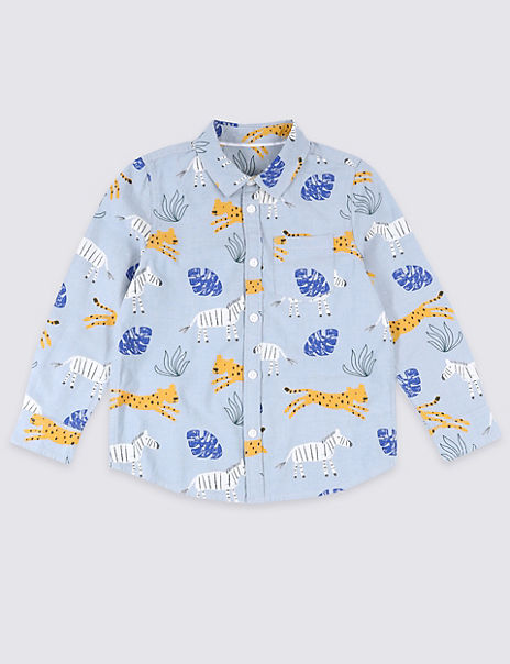 All Over Zebra Print Shirt (3 Months - 7 Years)