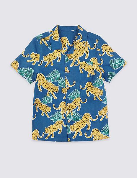 Leopard Print Shirt (3 Months - 7 Years)