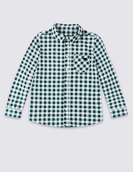 Easy Dressing Pure Cotton Checked Shirt (3 Months - 7 Years)