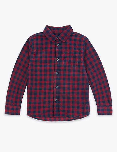 Cotton Cord Checked Shirt (3 Months - 7 Years)