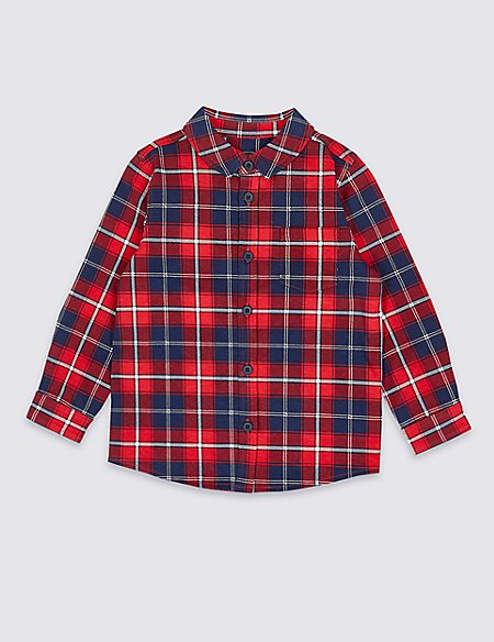 Pure Cotton Jersey Shirt (3 Months - 7 Years)