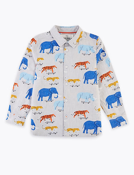Cotton Animal Print Shirt (2-7 Years)