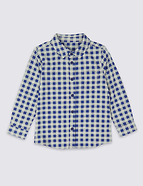 Cotton Rich Checked Shirt (3 Months - 7 Years)