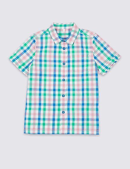 Pure Cotton Woven Checked Shirt (3 Months - 7 Years)