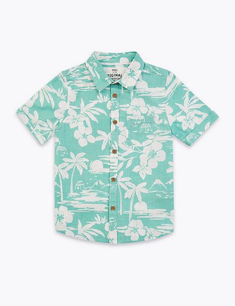 Cotton Tropical Print Shirt (2-7 Years)