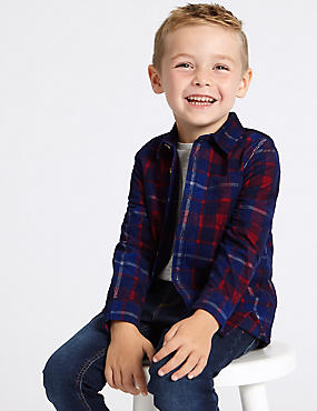Pure Cotton Checked Shirt (3 Months - 7 Years)