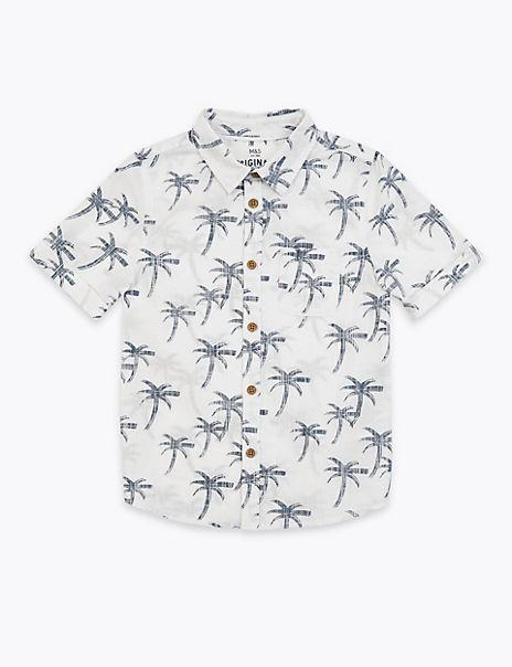 Cotton Palm Tree Print Shirt (2-7 Year)