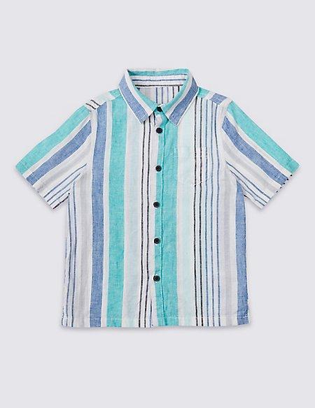 Cotton Blend Striped Shirt (3 Months - 7 Years)
