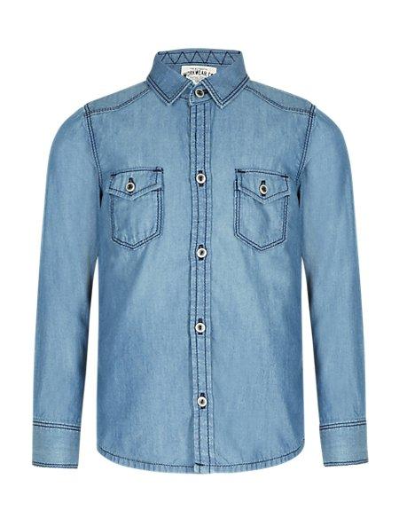 Pure Cotton Denim Shirt