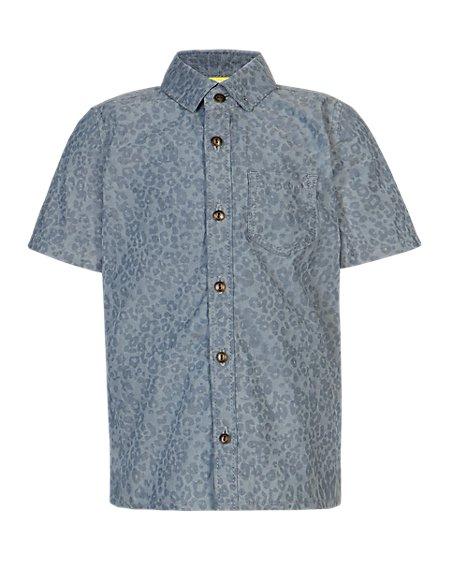 Pure Cotton Animal Print Shirt (1-7 Years)