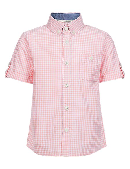 Pure Cotton Gingham Checked Shirt