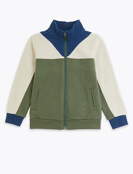 Jersey Colour Block Sweatshirt (3 Months - 7 Years)