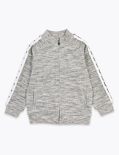 Cotton Rich Lightning Bolt Zip Jacket (2-7 Years)