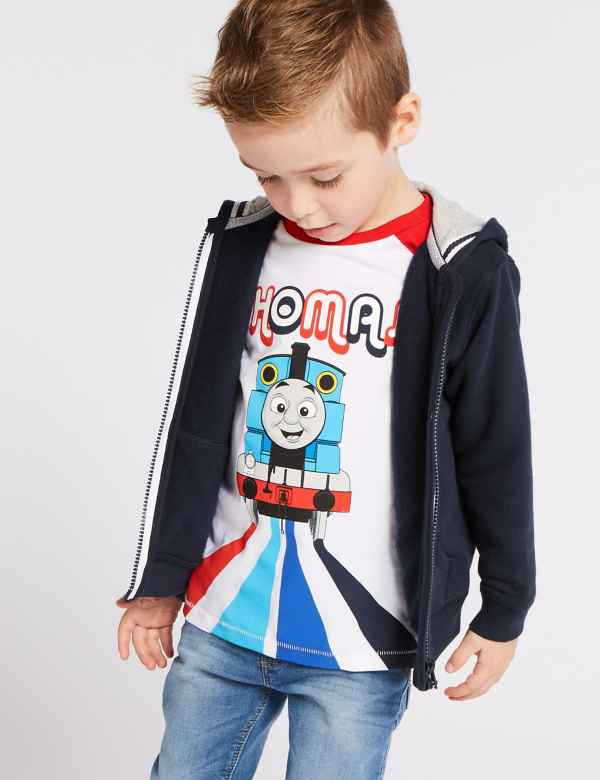 065c6f19109b Cotton Rich Hooded Top (3 Months - 7 Years)