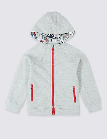 Sporty Hooded Top (3 Months - 7 Years)