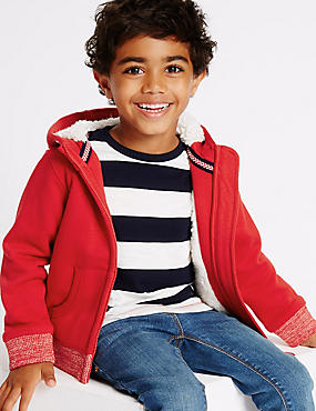 Cotton Rich Zip Through Sweatshirt (3 Months - 5 Years)