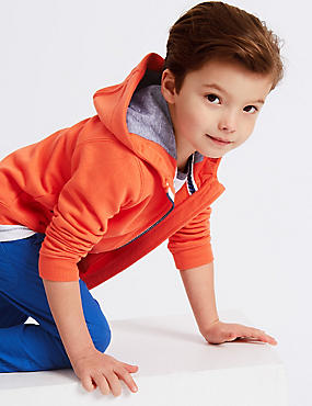 Cotton Rich Hooded Sweatshirt (3 Months - 7 Years)