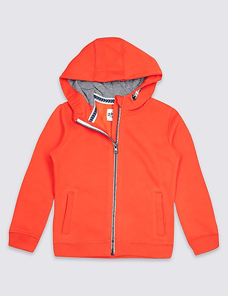 Cotton Rich Hooded Sweatshirt (3 Months - 7 Years)