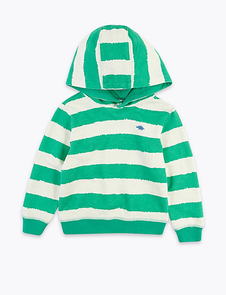 Cotton Striped Hoodie (2-7 Years)