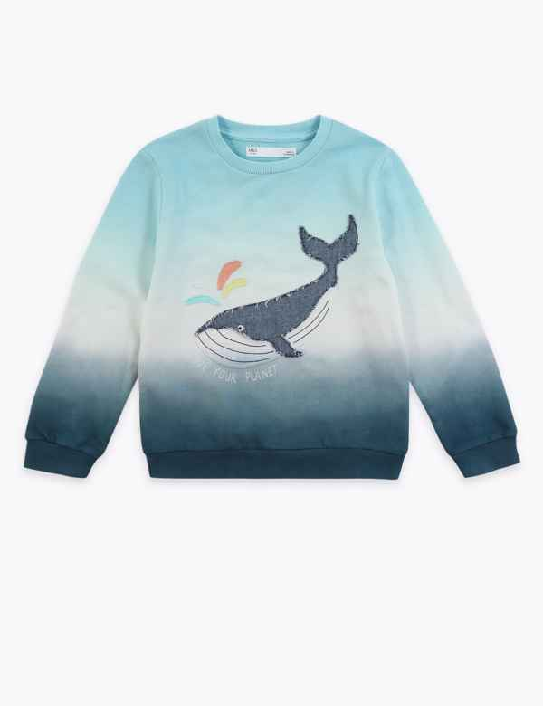 Blue Seven Baby Sweatshirt Dino at work ocean