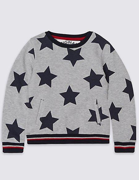 Star Print Sweatshirt (3 Months - 5 Years)