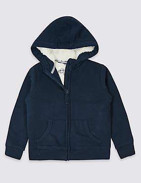 Cotton Rich Zip Through Jumper (3 Months - 7 Years)