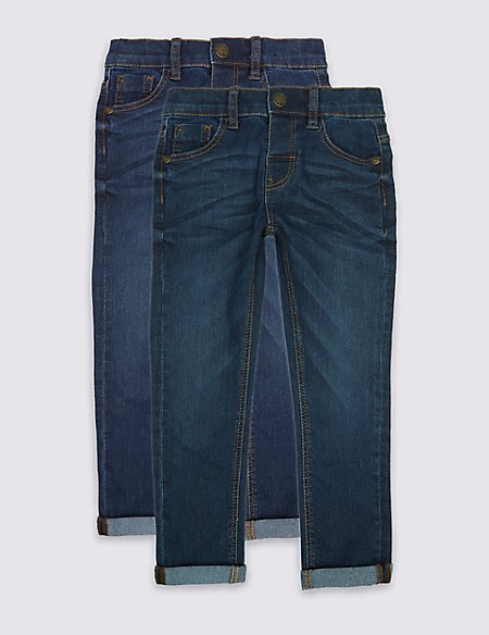 2 Pack Cotton Rich Jeans (3 Months - 5 Years)