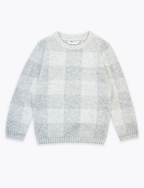 Checked Knitted Jumper (3 Months - 7 Years)
