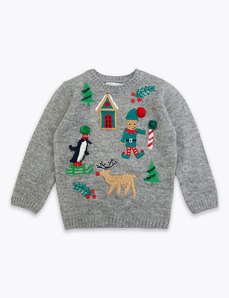 Christmas Applique Jumper (3 Months - 7 Years)