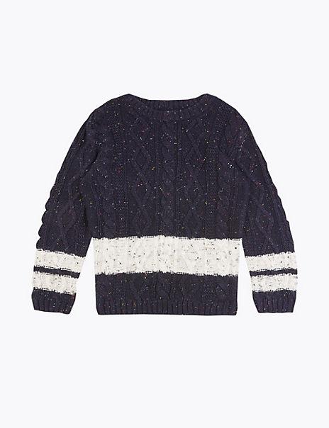Knitted Striped Jumper (3 Months - 7 Years)