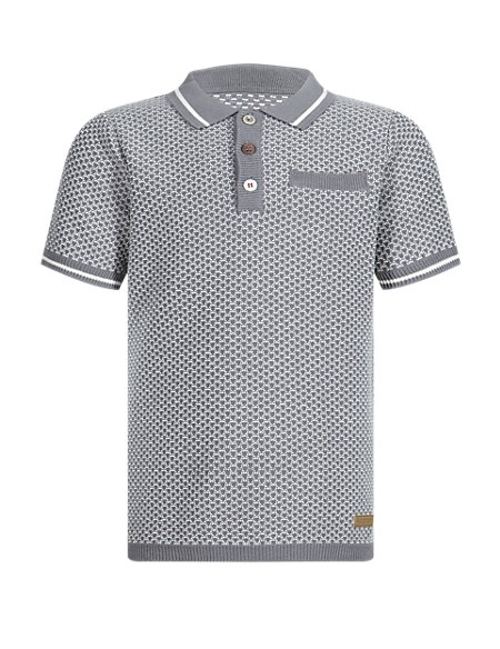 Pure Cotton Knitted Polo Shirt (1-7 Years)