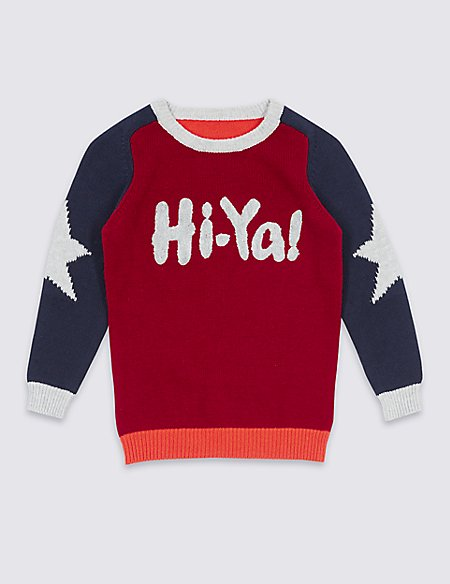 Pure Cotton Long Sleeve Jumper (3 Months - 5 Years)