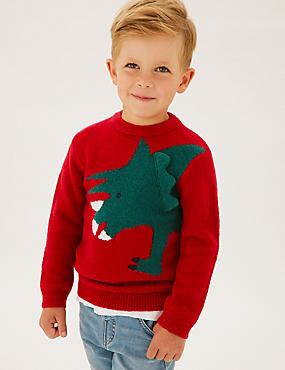 Dinosaur Knitted Jumper (2-7 Yrs)